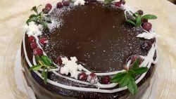 Sacher- kakku karpalolla